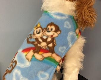 Monkeys Or Basketball  dog coat size Xsmall