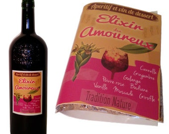 The Elixir of love, the elixir to the 2 gingers - Mix wine for 2 bottles. Valentine