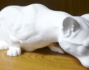 Crouching Cougar Mountain Lion Ceramic Bisque ready to paint paint it yourself