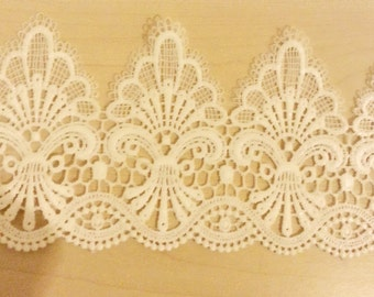 Free shipping!!!  1 yard of WHITE FLOWER Lace trim,white cotton lace,Libbon,Vintage lace,Cotton embroidery lace,Lace trim,Lover flower