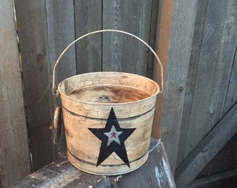 Rustic Antiqued Little Star Bucket