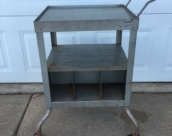Steel industrial cart