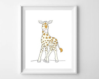 Giraffe Nursery Wall Art,Giraffe Children art,Giraffe Printable,Safari Giraffe Nursery,Safari Children Art,Giraffe Kids Art.Giraffe Baby Art