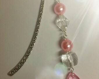 Pink Glass Bead BOOKMARK