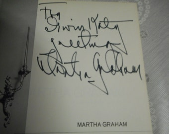 Signed Martha Graham Portrait of the Lady as an Artist 1966 1st Ed; theater, dance, famous dancers, ballet, modern dance, Martha Graham