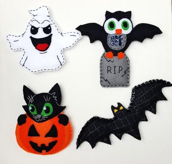 Fieltro imanes de halloween decoraci n halloween fieltro - Decoracion halloween para imprimir ...