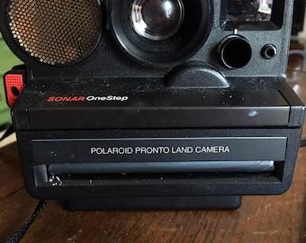 Polaroid SONAR OneStep Pronto Land Camera with manual