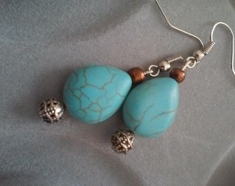 Turquoise inspired earrings