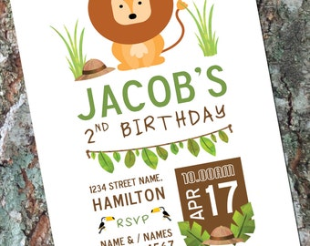 zoo invitation | etsy, Einladung