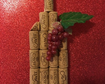 Wine bottle made from corks!