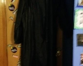 Ladies Black Leather Long Coat