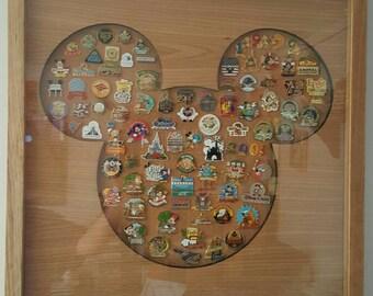 Disney Inspired Pin Display Shadowbox (Mickey)