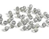 4mm Round Black Diamond SWAROVSKI® Crystal Beads #5000 -  Package of 50 - Bulk Pricing - Discounted Pricing