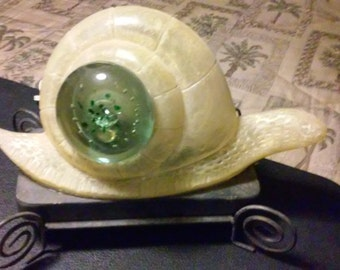 "VINTAGE  "" ART DECO ""  snail lamp!  amazing! one of a kind!"