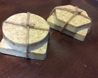 Honey Almond Oatmeal Soap Bars- Set of 2