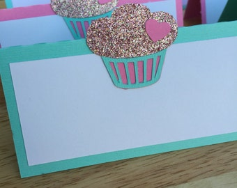 Cupcake Party Food Tent Labels/ Cupcake Party Food Signs/ [set of 8]