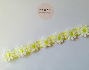 Daisy headband, yellow and white Daisy, hair accessories, baby headband,girl headband summer headband