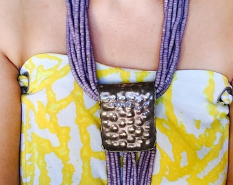 Vintage Beaded Fringed Necklace-Can Wear Two Different Ways!