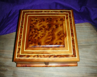 Thuya Burl Box With Four Drawers