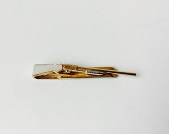 Vintage Riffle Tie Bar/Clip by Swank