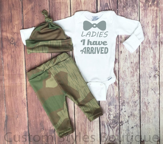 baby boys coming home outfit camo army print leggings hat and white  bodysuit set boy ff062e4dbc9be