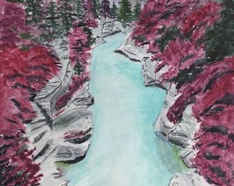 Fairy Pools Watercolor