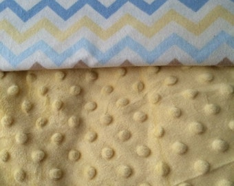 Personalized Baby Blanket, Minky and Flannel