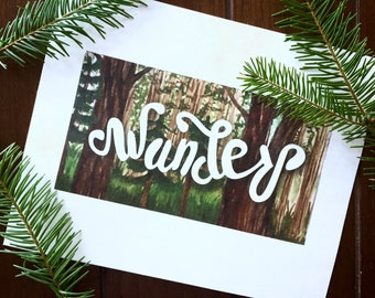Wander Watercolor Print 8in x 10in