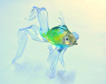 Glass Telescope Fish Figurine