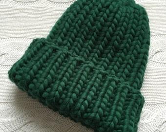 Big Yarn Knitting Hat