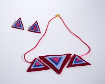 Geometric  neckless with earrings