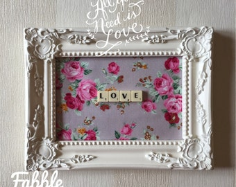 Shabby chic tile etsy for Shabby chic wall tiles