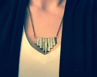Bronze Waterfall Necklace