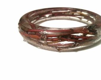 Red twig bangle