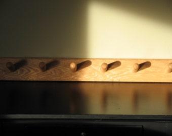 Solid Oak Coat Rack