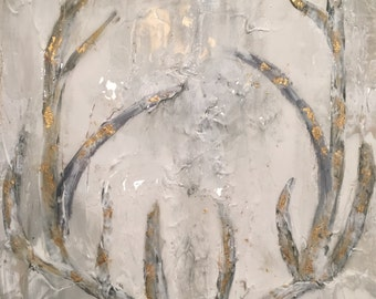 Abstract Antler Painting