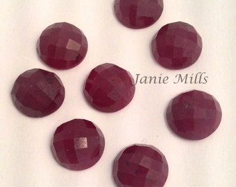 Ruby pigeon blood checkerboard 10mm round cabochon