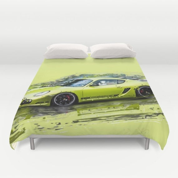 Porsche duvet cover duvet cover car duvet cover sport duvet for Housse de couette voiture de course