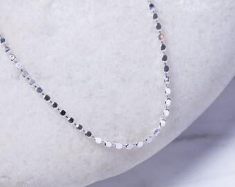 Sterling Silver bracelet, silver  cubed beads bracelet, Silver bracelet,  Silver wrist chain, (BS21)