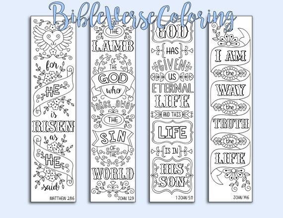 Easter Bible Journaling Bookmarks Traceable Scripture Illustrated ...