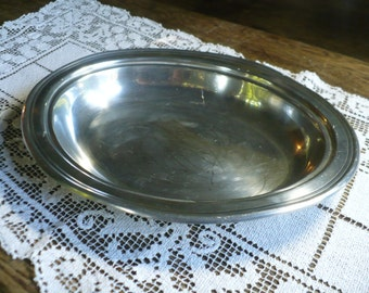 Vintage Plymouth KS Pewter oval platter
