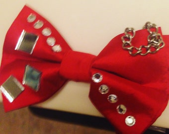 Red custom bow tie