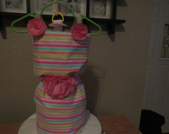 party dress diaper cake