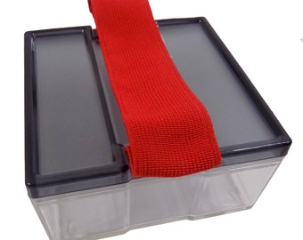 "Small Storage Box Container with Secure Strap 3.6"" x 1.9"" x 3.6"""