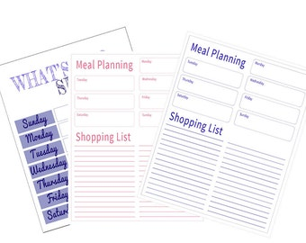 Meal Planning - Shopping List