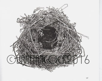 The Nest, Giclee print from an original Ink drawing