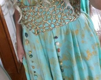 Daenerys Targaryen Full Qarth Costume Cosplay Dress Khaleesi - lace front wig