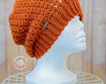 Crochet V Slouchy Hat