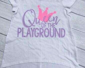 queen of the playground, back to school shirt, kindergarten shirt, first grade shirt, second grade shirt, first day of school,third grade