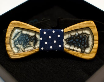 Wooden bow tie handmade with colors